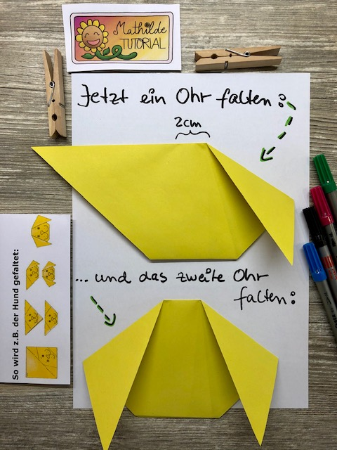 Origami Hund Tutorial